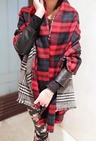 Za Christmas Scarf Winter Brand Neck Warmer High Quality Warm Scarf Winter Accessories Tartan Plaid Double Side Blanket Scarf