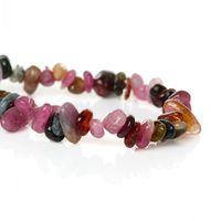 Dorabeads (Grade A)Natural Tourmaline Loose Beads Irregular Mixed About 12mmx5mm-5mmx4mm,Hole:Approx 1.0mm,88.5cm,1 Strand