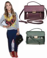 New arrival European and American original single classic casual styling women bag ladies handbag 4 color red/purple/khaki/green