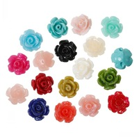 Dorabeads (Grade B)Synthetic Coral Spacer Beads Rose Flower About 9mm x 8mm,Hole:Approx 1.3mm,50PCs