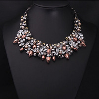 New Exaggerated Vintage Gem Rivet Luxury Fashion necklace choker Necklace Women Free shipping