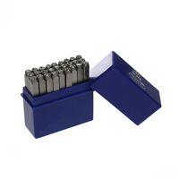 Dorabeads Metal Stamping Tool Box Set Rectangle Shape Silver-grey Alphabet/Letter A-Z Pattern Carved Stamp 6.6cmx 6.4cm,1 Set