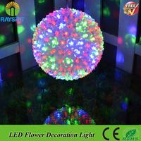 Big Sale colorful garden Christmas bulb waterproof  Christmas outdoor decoration luminaria flower Christmas ball light