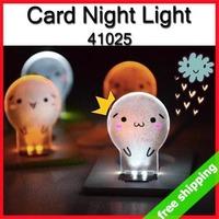 FREE SHIPPING Cute Night Light LED Mini Crad Pocket Novel Portable Gift ABS promotion say hi 9pcs/lot 41025