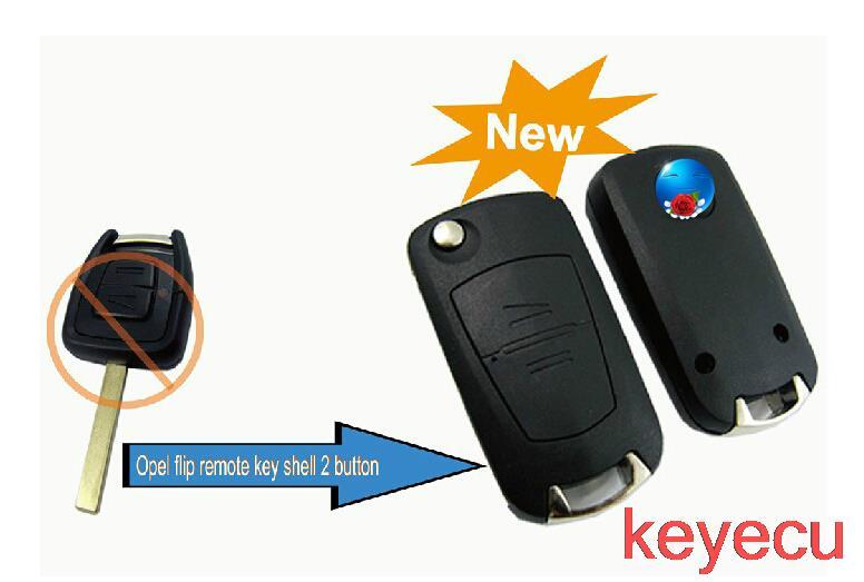 Replacement Shell Modified Flip Folding Key Shell Case FOB 2 Button for Opel Agile Vectra Novo Montana Corsa HU100(China (Mainland))