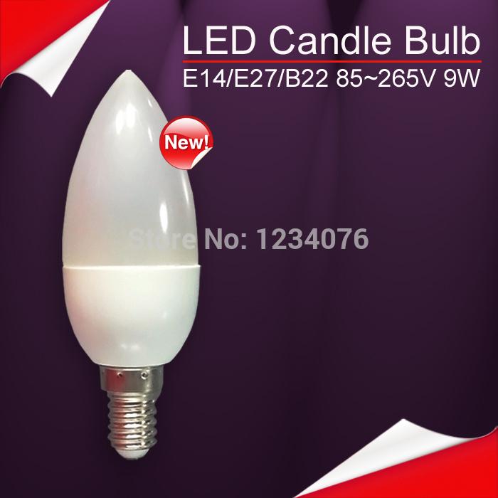 Free Shipping LED Candle Light 2835SMD Bulb Lamp High Brightnes 5W 9W E14 AC220V 230V 240V Cold White/Warm White(China (Mainland))