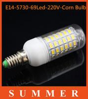 Cheapest1Pc/lot E14 5730 69LED LED light Led lamp 220V Corn Bulbs 69LEDs Lamps 5730 SMD 20W Energy Efficient E14 led lighting