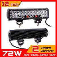 12inch 72w LED Work Light 12v 24v IP67 Tractor ATV Offroad Fog Light LED Worklight External Light Save on 120w 100w