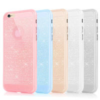 100pcs Fashion Portable Anti-knock allover studded transparent diamond Case Cover for iPhone 6 4.7inch fast shipping