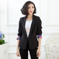 Winter & Autumn Lady Casual Slim Blazers Plus Size XL-4XL Single Botton 2014 New All-Match Elegant Women Fashion Clothings