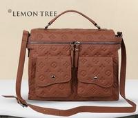 New 2014 Women messenger bag women handbag genuine leather bags Lady fashion brand crossbody bags bolsas shoulder bag femininas
