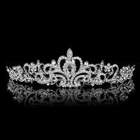 HOT 2014 New crystal tiara hairwear for women Silver rhinestone bridal crown wedding hair Jewelry accessories XB09