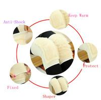 1pair/lot Imitation Wool Outdoor Sports Kneepad Football Volleyball Knee Protector Pads Keep Warm Winter Kneepad AY673427