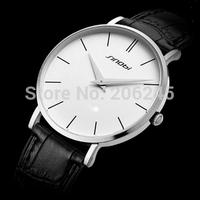 Sinobi Fashion Relogio Masculino Men Sport Watches Thin Dial Leather Strap Male Wristwatch Quartz Men Business Watches
