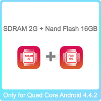 New Built-in 2G SDRAM + 16GB Nand Flash, this Item just Sell with Our Quad Core Android 4.4.2 DVD