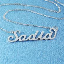 Personalized name neckalce,alloy name necklace,custom name pendant,custom jewelry(China (Mainland))