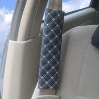 2pcs/lot PU Leather Car Vehicle Seat Belt Comfortable Grid Shoulder Pad Harness Strap Cover Cushion AY673263