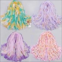 Buy 3 get 1 for free! Small facecloth roll-up hem chiffon silk scarf ruffle hem silk scarf small scarf decoration silk scarf