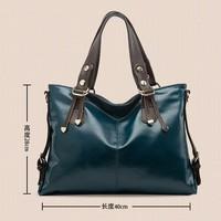 2014 new Korean oil wax handbags and Fashion Shoulder Bag Handbag oblique cross Free shipping