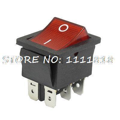 AC 250V/10A 125V/15A Double Pole Double Throw I/ORocker Switch(China (Mainland))