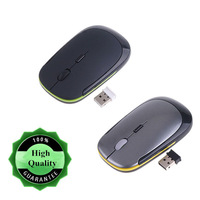 Fashion Wireless Optical Mouse For PC Laptop 2 Colors Ultra-Slim Mini USB 2.4G DPI Adjustable Mouse 2 Colors Free Shipping