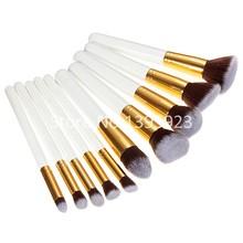 10pcs Set Professional Cosmetic Makeup Brushes Set tools Wool Brand Make Up Brush Free Shipping(China (Mainland))