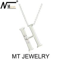 MT Limited Design Letter Character Crystal Necklace
