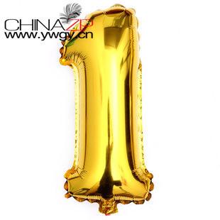 """Большие размер 40 """" золотая фольга номер 1 воздушные шары и от www.ywgy.cn"""