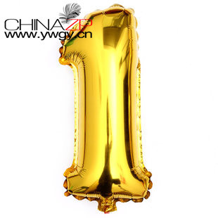 Large size 40 Gold foil number 1 balloons Wholesale and Retail from Factory www ywgy cn
