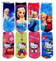 MW001 Free shipping cotton children socks princess hello kitty baby socks hosiery cartoon girl boy sock 6 pairs / lot  retail