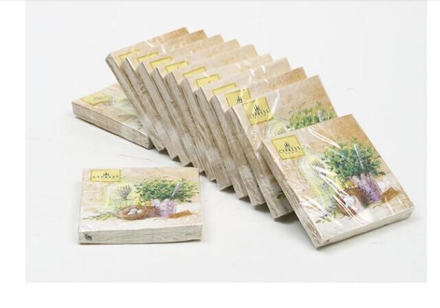 Multicolor table napkin printed pattern paper towel - Serviette table tissu ...