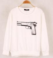 2014 new fashion Women's C C Printed Hoodies Leasure long sleeve Sweatshirt Tracksuit Tops Outerwear women hoody
