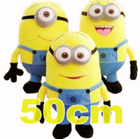 New Minions Jorge Stewart Dave Plush Dolls Despicable ME 2 Anime 50cm Home Soft Stuffed 3D Eyes Pelucia Gift for Children J0214