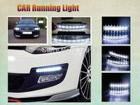 2PCS  New 8 LED Daytime Running Light Universal Car Light Super White Auto Lamp  Free shipping
