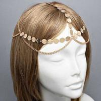 Gold Shinny Hairband Hair accessories Crown Hair jewelry Headband Styling Tools Head Chain Head Jewelry CF101