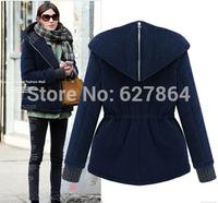 Hot 2014 New autumn and winter new jacket Slim Short thin female leisure fashion winter jacket cotton jackets winter coat woman