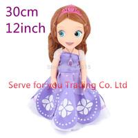 30CM Sofia princess doll toy Sofia the First princess sofia doll girls Gift For Kids Christmas Gift Free shipping