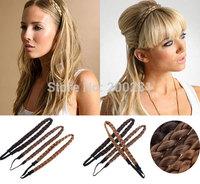 Fashion Women Braided Headband Synthetic Hair Plait Elastic BraidsHairband Forehead Buckle Headband New Arrival