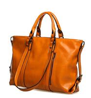 2014 New Genuine pu Leather Bags Black Handbags Women Famous OPP Brands Versatile Women Bag large Shoulder Bags