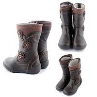 High quality Nice Fashion Girl's Kids Girl Winter Flat Zipper Cute Boot Shoes Children Size 2-13 E6697