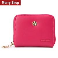 2014 New Arrival Women Brand Design Wallet Fashion Women Flowers Purse Clutch Wallet Short Small Bag Card Holder High quality