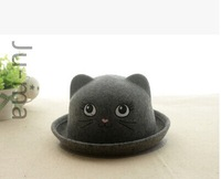About children's autumn/winter wool hat H, M baby small demon cat ear hat