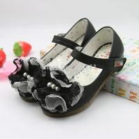 High Quality 2014 Hot Sale Girls Summer Toe Sandals PU Leather Children's Flower Princess Shoes Spot