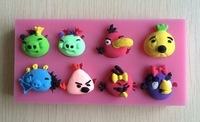 Soft Silicone  Animal Shaped Mold Color Random For Cake Decoration Cake Tools Drop -P229