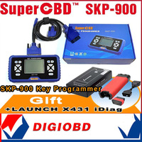 Gift X431 IDIAG 2014 New Arrival SuperOBD SKP-900 Hand-held OBD2 Auto Key Programmer SKP900 DHL Free Shipping Free update