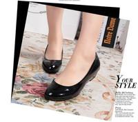 2014 the Korean flat  candy colors PU flat women's shoes women's comfortable office shoes free shipping