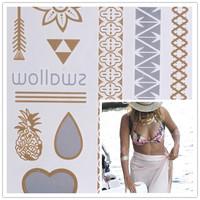 Tattoo Hot Selling Designs Heart Flowers Mirror Temporary Tattoo Waterproof Body Tattoo Stickers Body Art Drop Tattoos