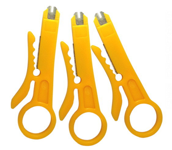 Free Shipping Punch Down Network UTP Cable Cutter Stripper 5X RJ45 Cat5(China (Mainland))