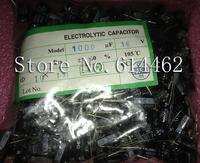 Free Shipping 500PCS NEW 1000UF 16V 10*17MM DIP Electrolytic Capacitor 10X17 MM 1000UF 16V