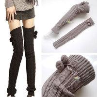 Fashion twist lengthened ball of wool knee socks knee pads Tall boots wholesale leggings